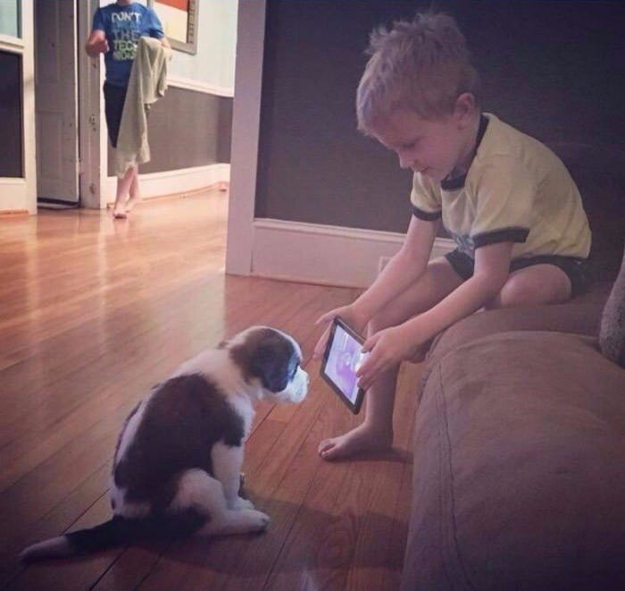 When his dad told him there were videos on YouTube, this is what the son did